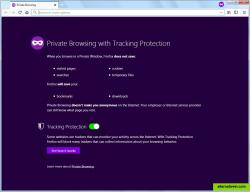 Private Browsing with Tracking Protection