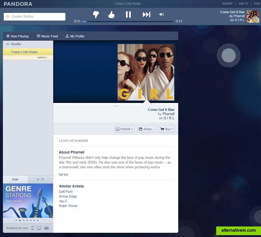 Best Pandora Alternatives - alternativein.com